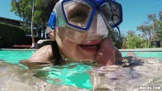 Maschera subacquea e scopata sottomarina