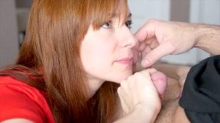 Best oral sex con la tettona dai capelli rossi