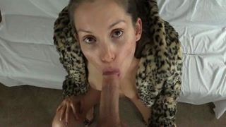 Pelliccia di leopardo e grande pompino